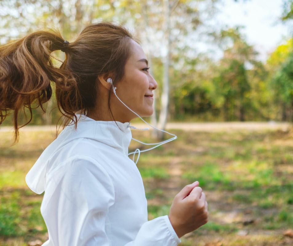 Girl Jogging forward